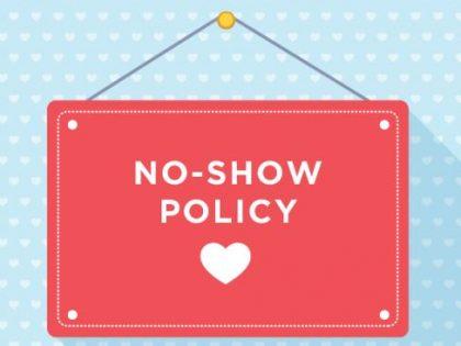 No Show Policy per 1 oktober 2018